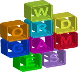 Blocks stacked spelling WordGames