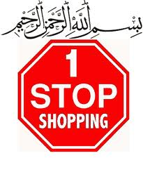 "Illustration of a Stop Sign that stays ""1 Stop Shopping"""