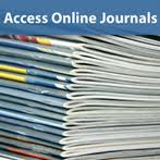 "Image of a stack of journals entitled ""Access Online Journals"""
