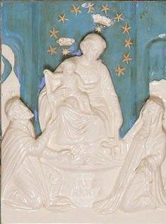 Madonna plaque