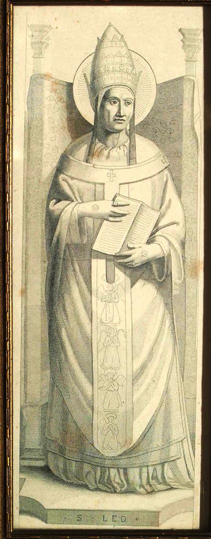 St. Leo engraved portrait