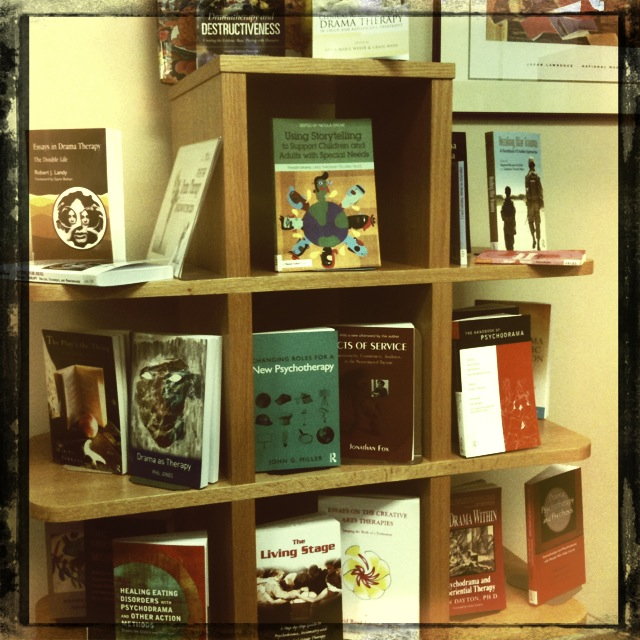 Display of new drama therapy books