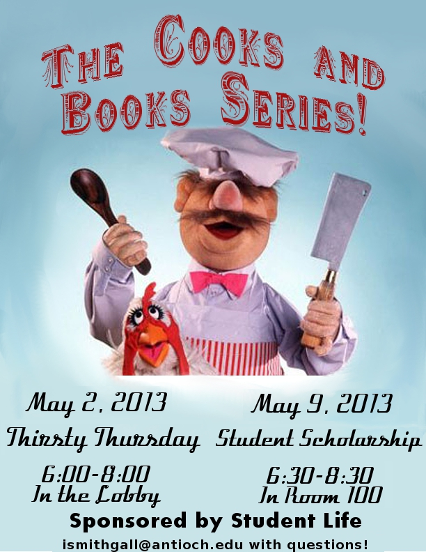 The Cooks and Books Series flyer