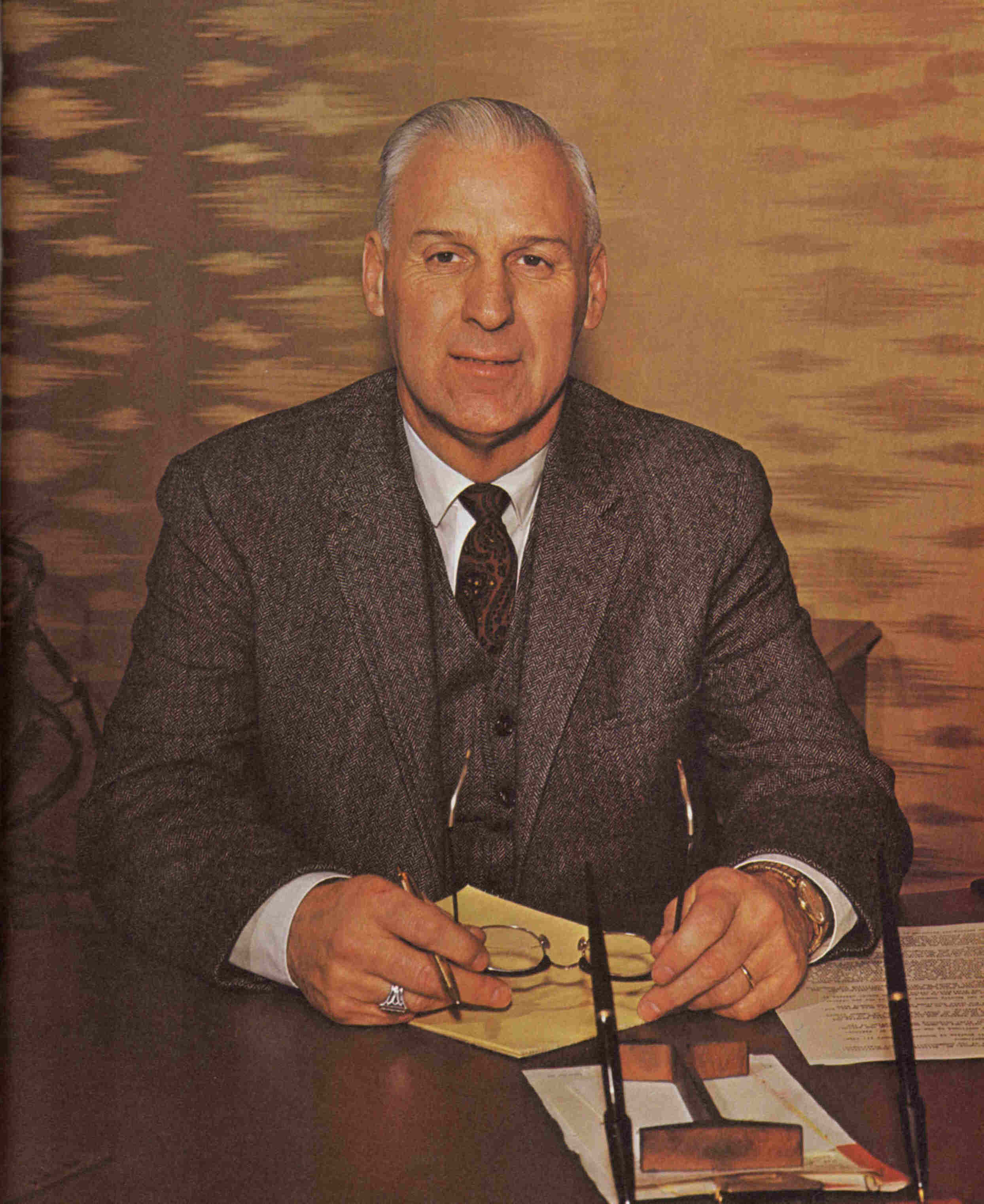 ECC College President James E. Shenton, 1968