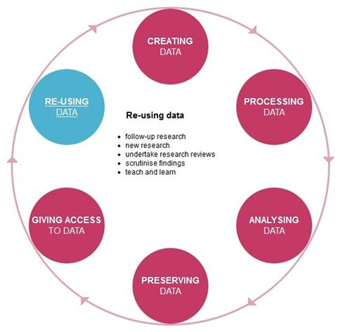Research Data Lifecycle Image