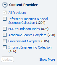 """Content Provider"" dropdown"