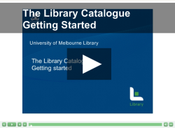 Screenshot from a tutorial on how to use the library catalgoue.