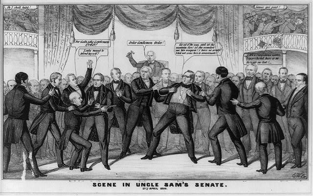 Scene in Uncle Sam's Senate