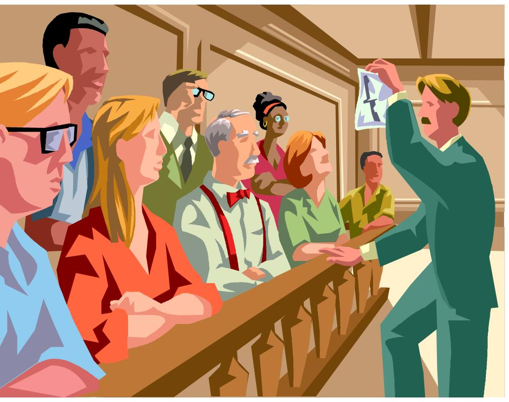 Cartoon of jurors