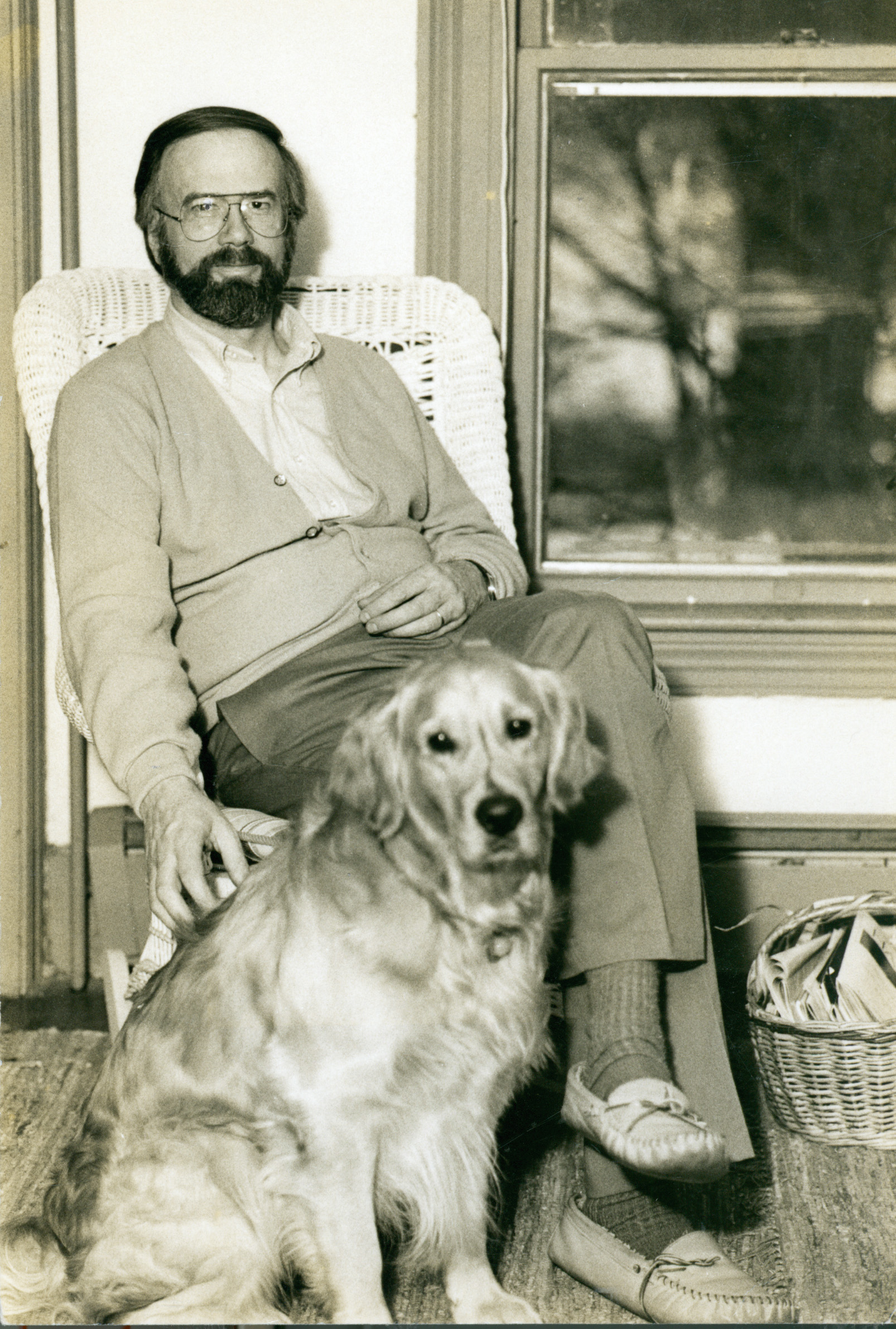 McNair and dog Woody, ca. 1991