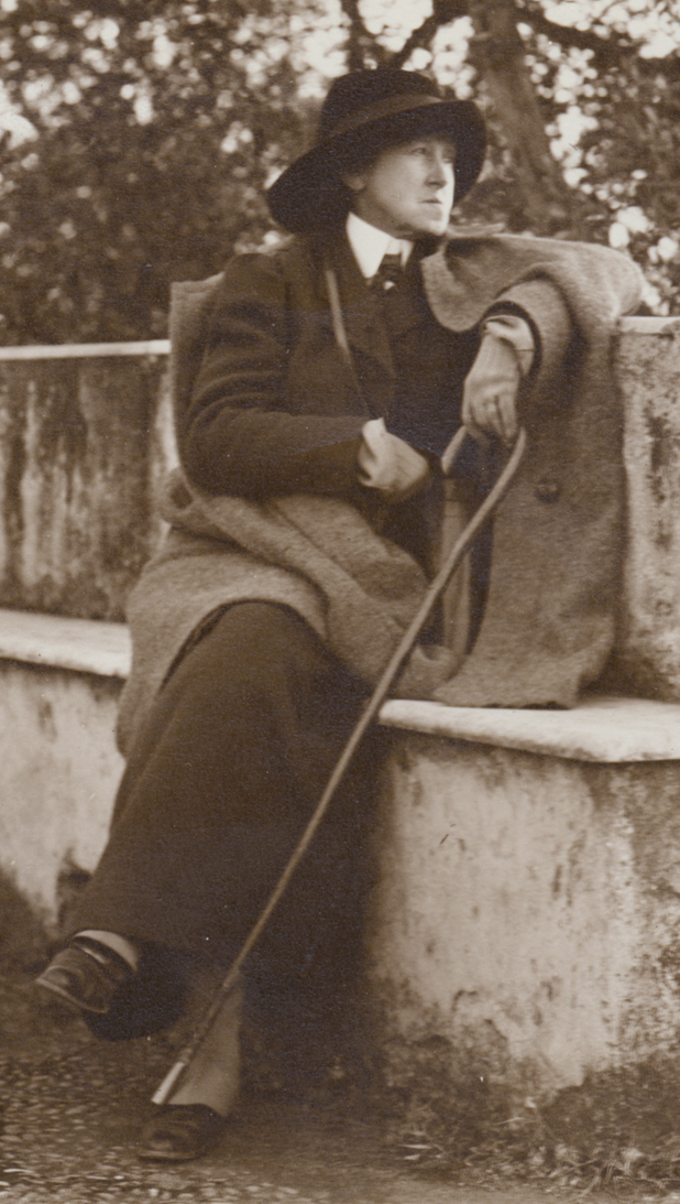Vernon Lee, seated
