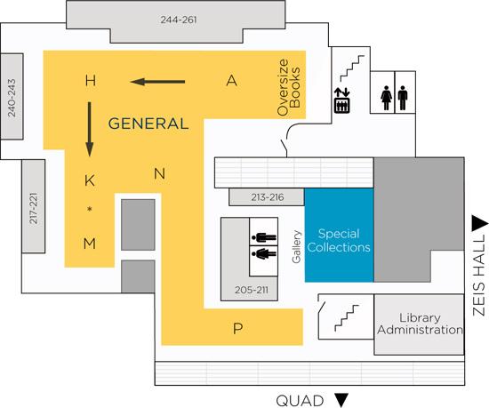 Ramsey Library Upper Level