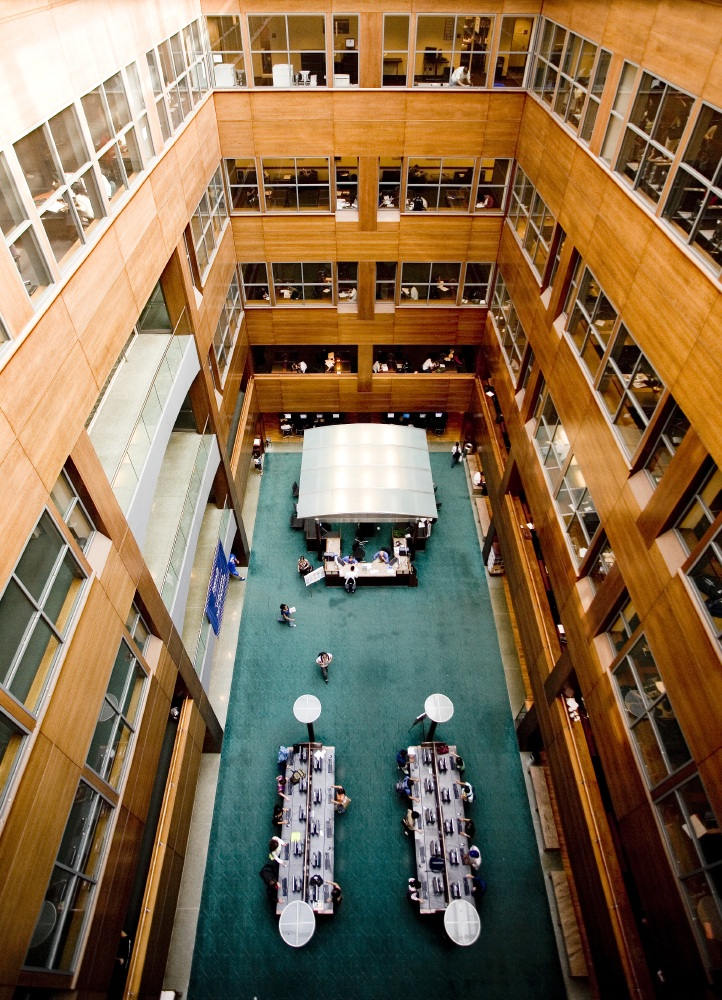 Atrium of the Newman Library