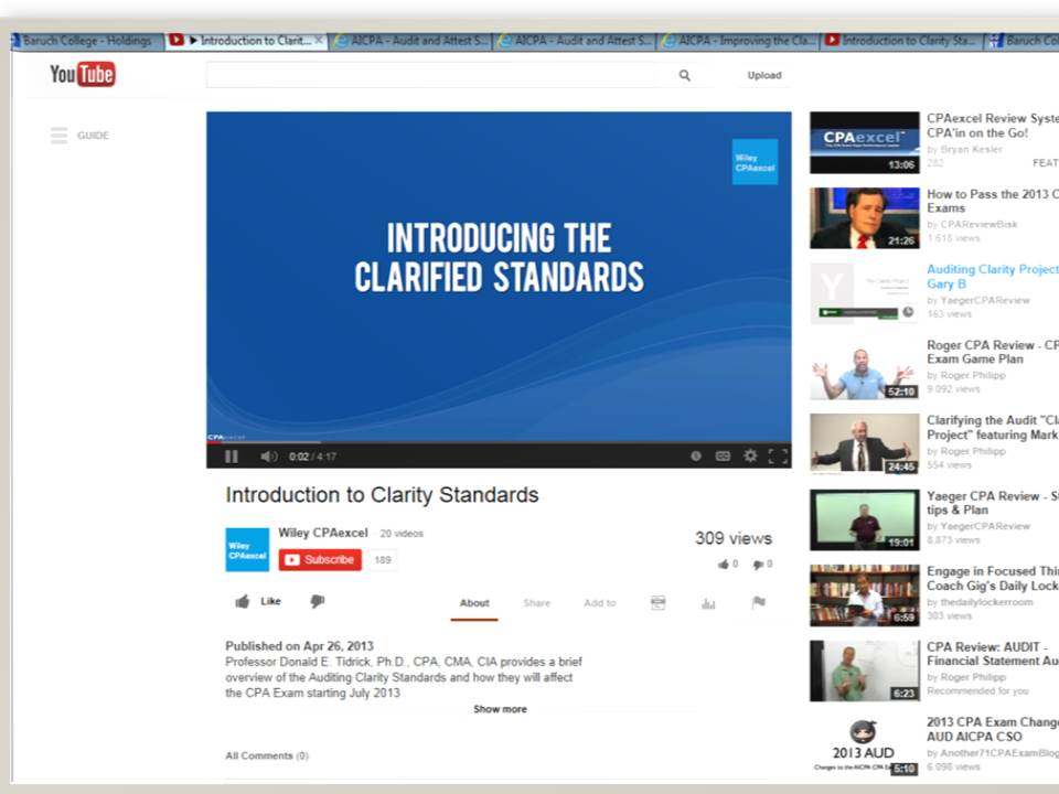 YouTube Videos Available on Clarity Project