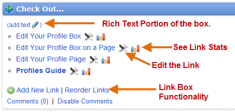 link box with sections described