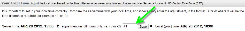 LibAnalytics time offset