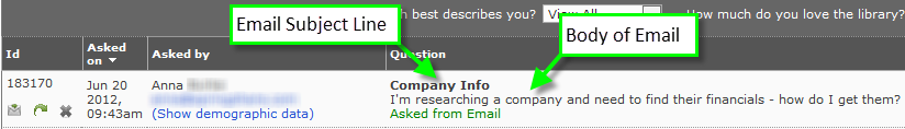 Email Question in Queue