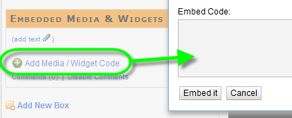 Embedded Media / Widgets Box