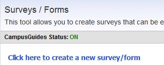 surveys main page