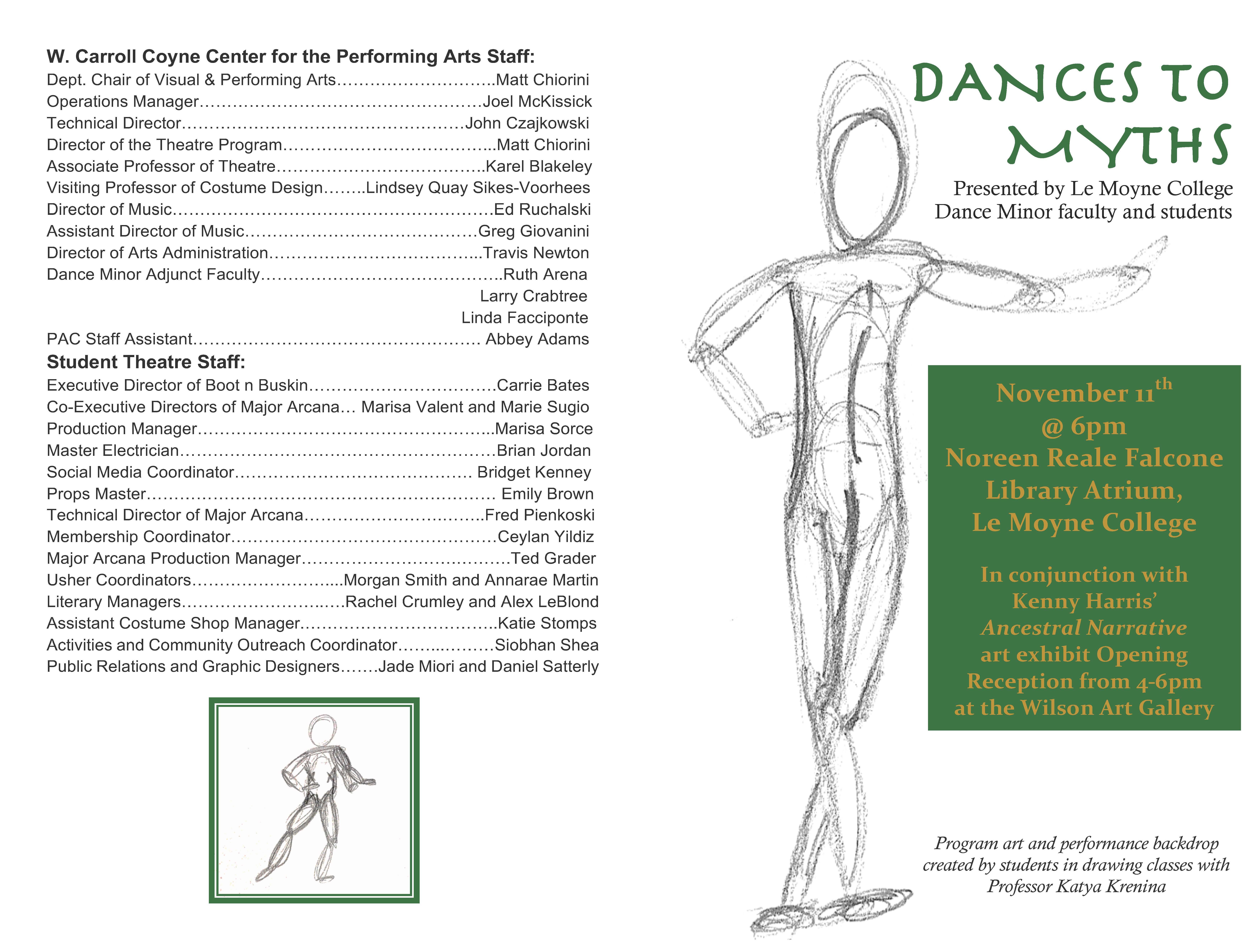 Dances to Myths (program note p.1)