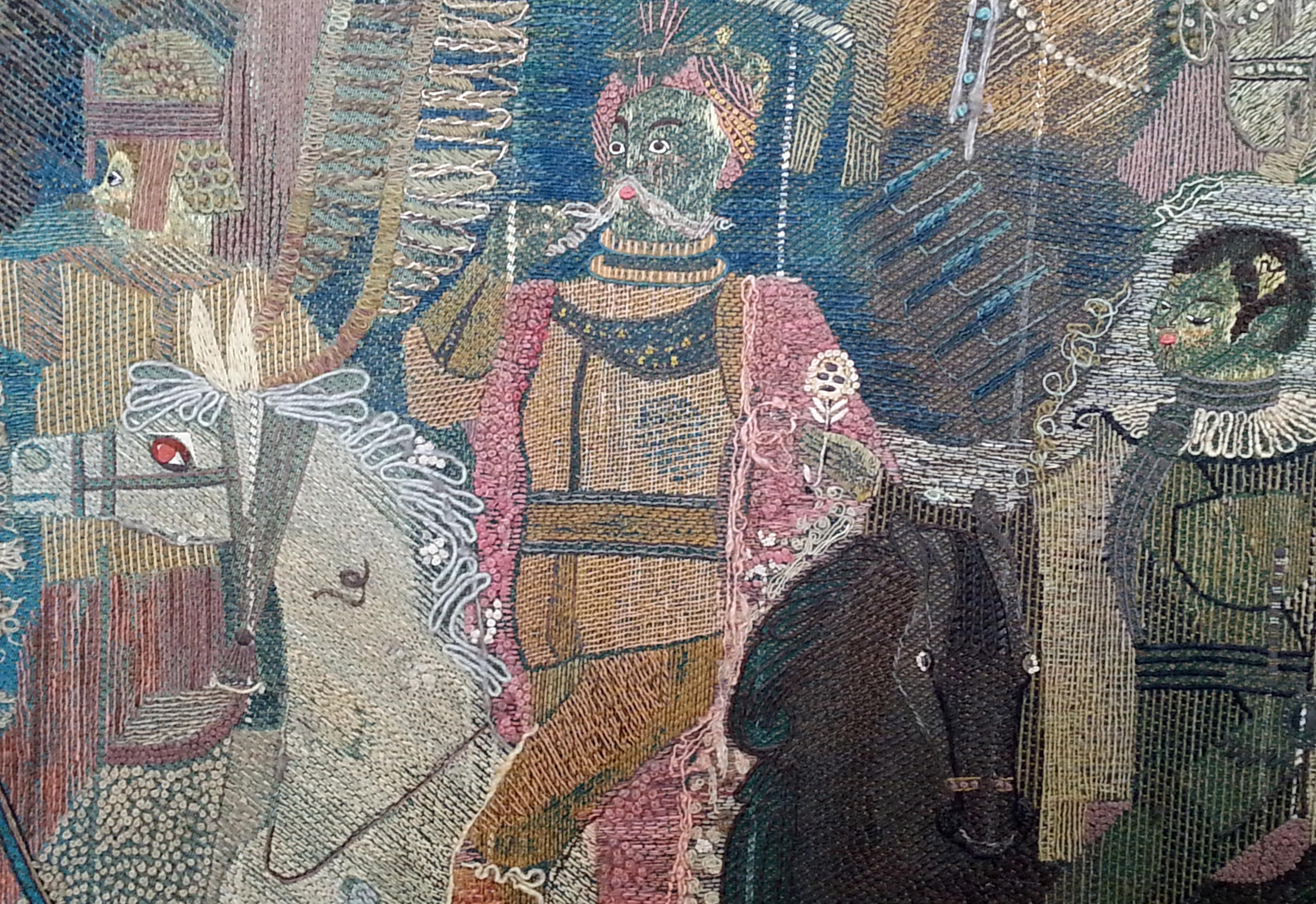close up of King John and Emperor Leopold on horseback