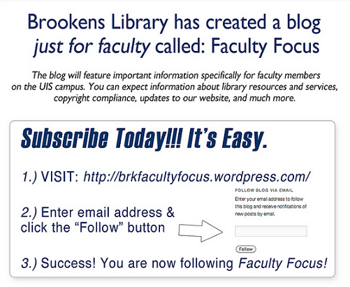 Faculty Focus Blog