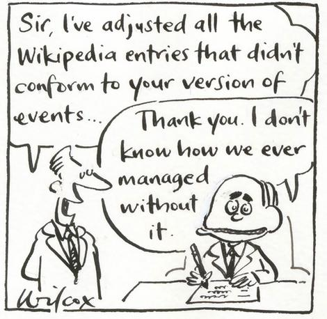 Wikipedia - PM cartoon
