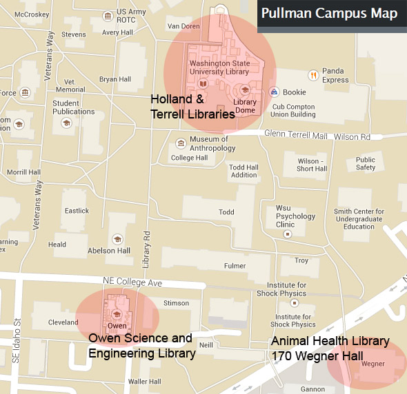 libraries on map