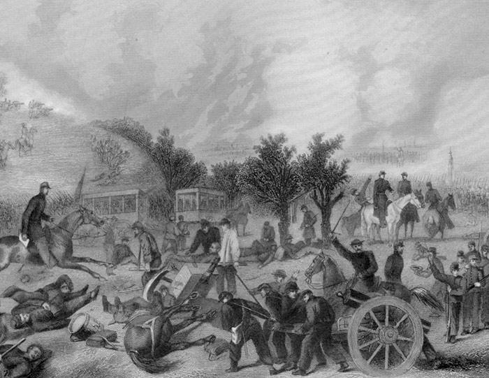 Battle of Gettysburg  - Alonzo Chappell