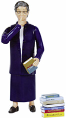 Nancy Pearl Librarian Action Figure. Retrieved 14.12.2009 from http://students.washington.edu/aliss/silverfish/archive/Dec2003/chandler_gifts.shtml