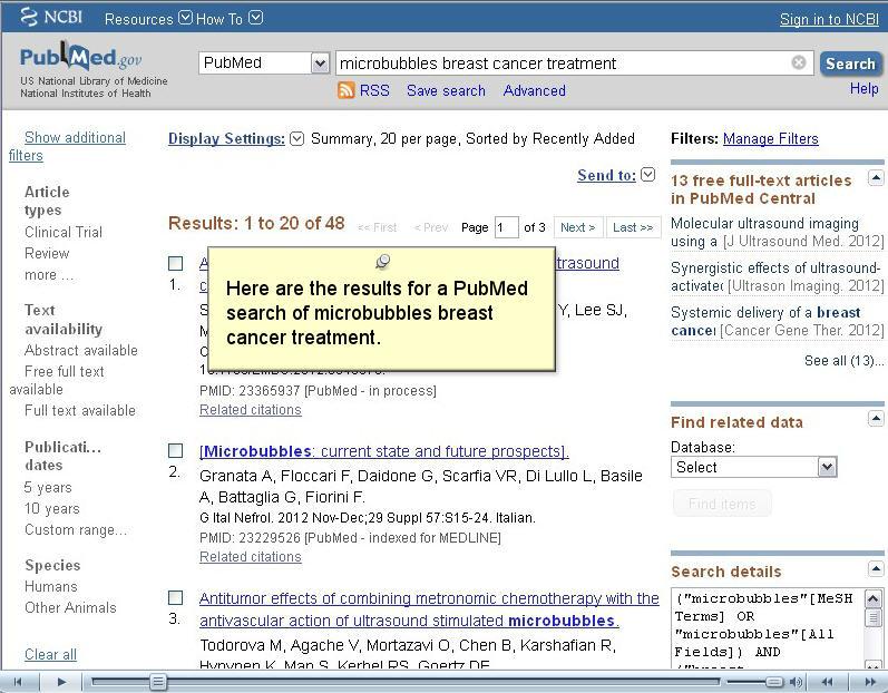 PubMed Tutorial Videos