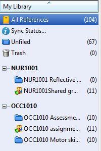 Groups display on desktop