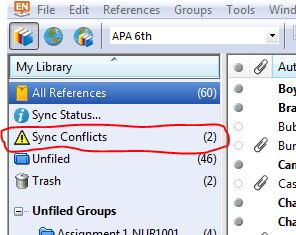 Sync conflicts