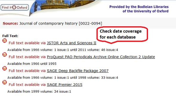 Screen shot showing checking date on the SFX window