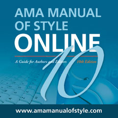 AMA Manual of Style, 10th Ed.
