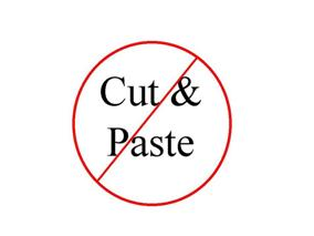 No Cut & Paste Image