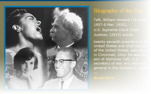 Billie Holiday; Jackie Onasis; Malcolm X;