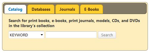library catalog search widget