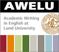 The AWELU platform is an online resource for academic writing in English at Lund University.