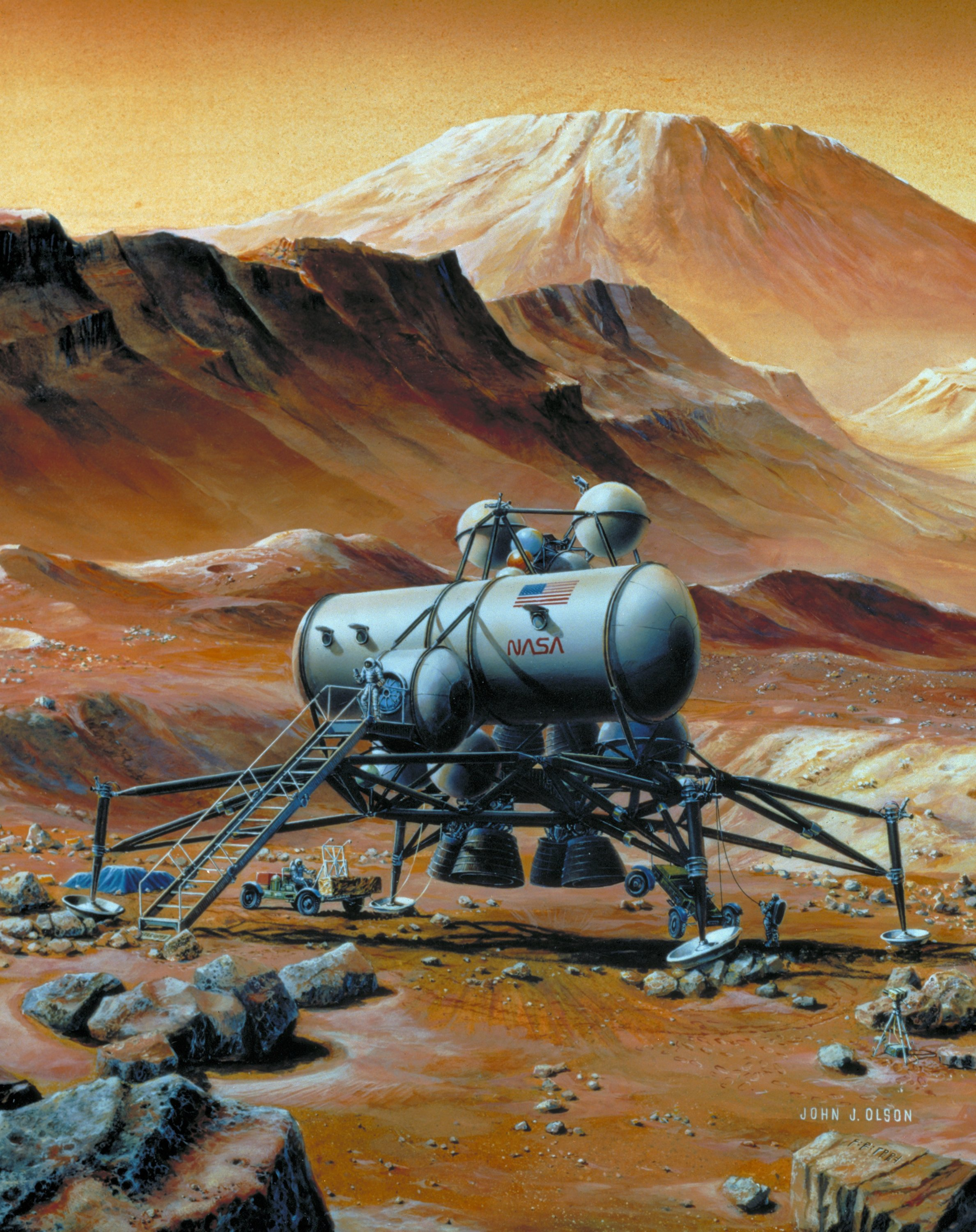 Artist's Conception of Mars Base
