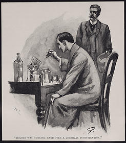 Sherlock Holmes with Chemical Apparatus