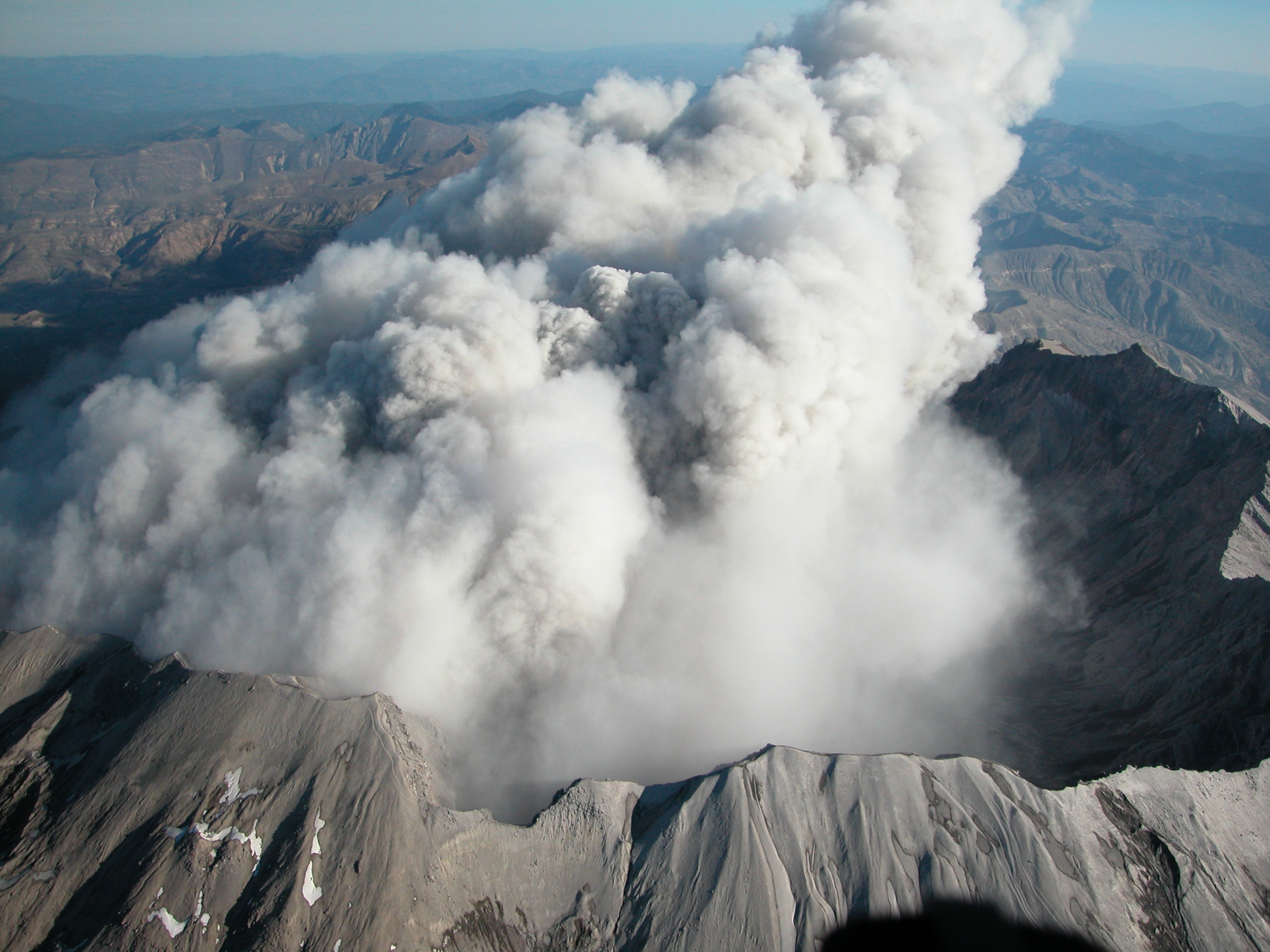 Aerial View of Mount St. Helens' Crater Rim