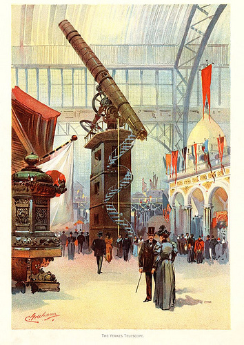 """The Yerkes Telescope,"" Color Plate by Charles S. Graham"