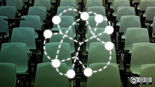 nodes map overlay on image of seats in a lecture theatre