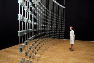 listening post installation at an arts festival