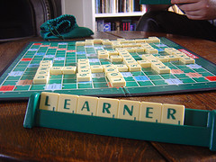 learner spelled in scrabble
