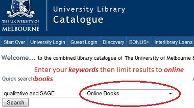 finding ebooks in the library catalogue
