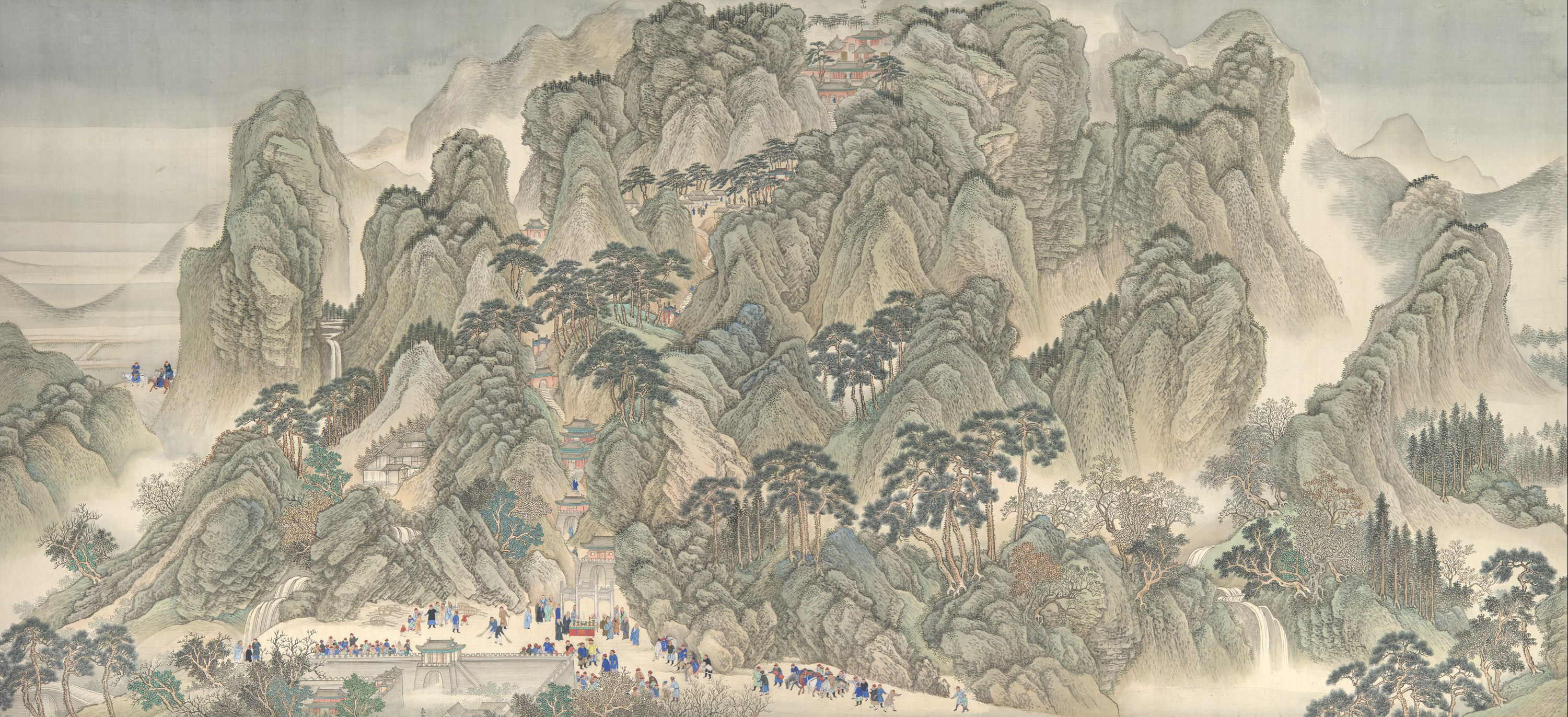 Ancient Chinese Scroll of Mountains