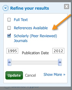 scholarly facet ebsco