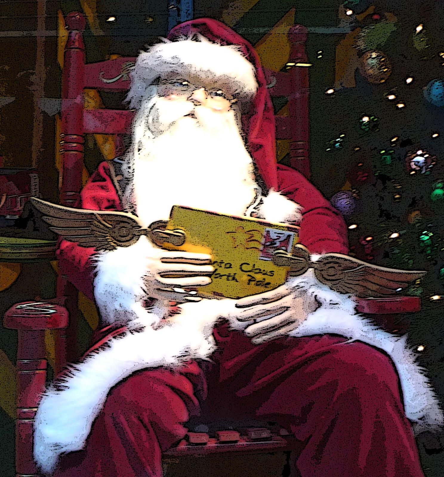Santa Claus at the North Pole